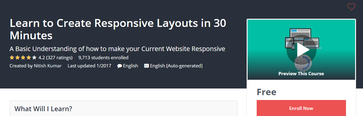 Course Cover For - Learn to Create Responsive Layouts in 30 Minutes